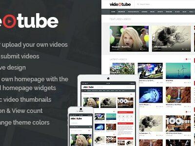 VideoTube - адаптивный шаблон для видео сайта