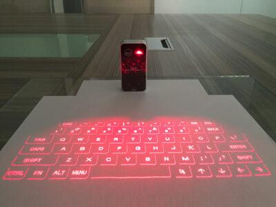 Беспроводная лазерная клавиатура