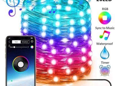 Светодиодная гирлянда для новогодней ёлки Bluetooth и USB