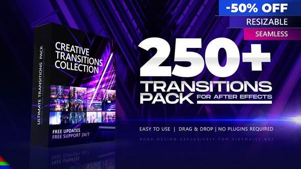 Коллекция из 250 переходов для создания видео